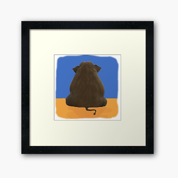 NCIS elephant in the room ORIGINAL Framed Art Print