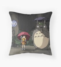 Totoro - Waiting for the Catbus Throw Pillow