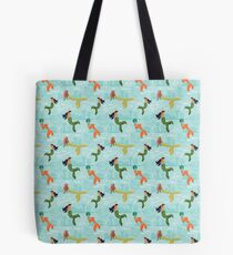 Coney Island Mermaid Pattern Tote Bag