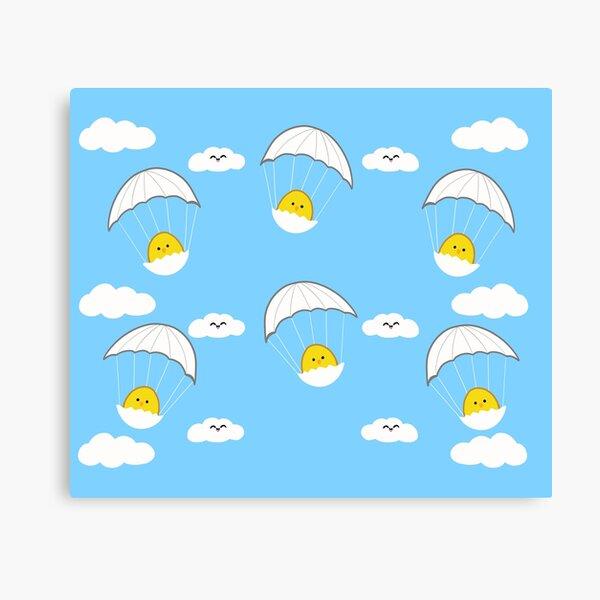 Little Chick on a parachute Canvas Print