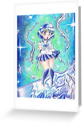 Sailor Mercury Colored Pencil by SaradaBoru