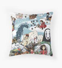 Studio Ghibli Tribute Throw Pillow