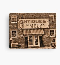 """""""Antiques, Clinton Mall,  #3""""... prints and products Canvas Print"""