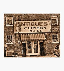 """""""Antiques, Clinton Mall,  #3""""... prints and products Photographic Print"""