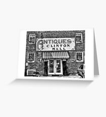 """""""Antiques, Clinton Mall, #2""""... prints and products Greeting Card"""