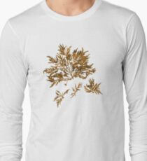 Brown Marine Seaweed Long Sleeve T-Shirt