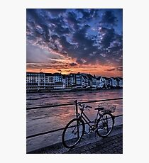A Sunset Cycle by The Rhine  Photographic Print