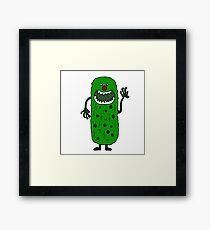 Cool Funny Pickle Tickle Monster Framed Print
