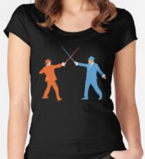 Dumb and Dumber On Guard!  Women's Fitted Scoop T-Shirt