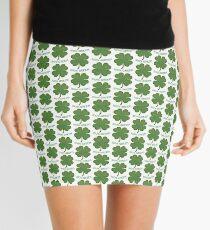 Irish Shamrock - 100% Green Mini Skirt
