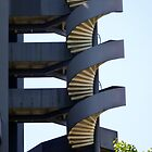 Blue spiral stairs by bubblehex08