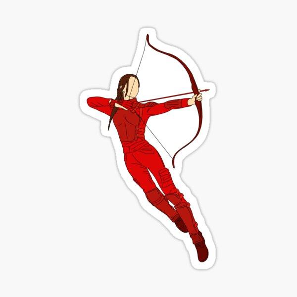 Katniss Everdeen from the Hunger Games Mockingjay Sticker