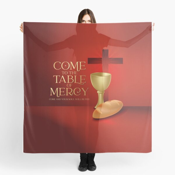 Ven a la mesa de la misericordia, santa eucaristía, santa comunión Pañuelo