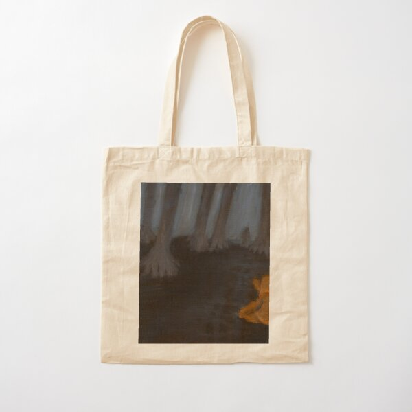 Lonely Lost Bear Cotton Tote Bag