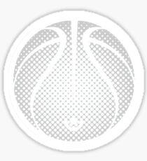 Vector Basketball Halftone Sticker