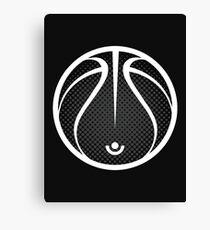 Vector Basketball Halftone Canvas Print