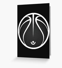 Vector Basketball Halftone Greeting Card