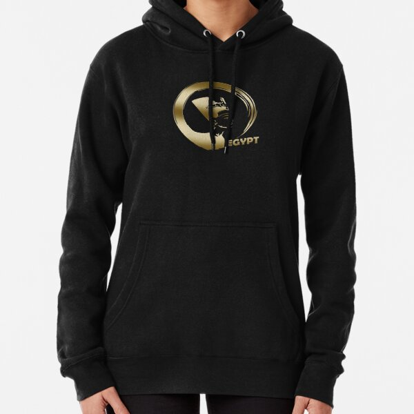Enso Circle and Nefertiti Pullover Hoodie