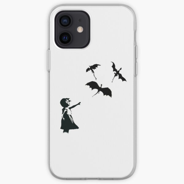 Banksy's Girl With a Balloon/Dragon iPhone Soft Case