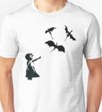 Banksy's Girl With a Balloon/Dragon Unisex T-Shirt