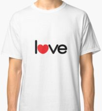 Love (06 - Black & Red on White) Classic T-Shirt