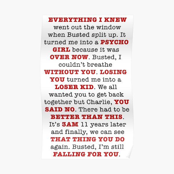 An Ode to Busted Poster