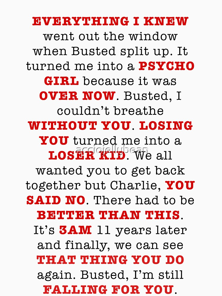 An Ode to Busted by acciojellybean