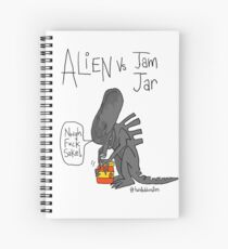 Alien Vs Jam Jar Spiral Notebook