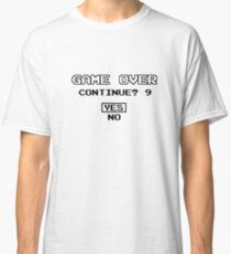 Game Over Continue Gaming Retro Old School 90s  Classic T-Shirt