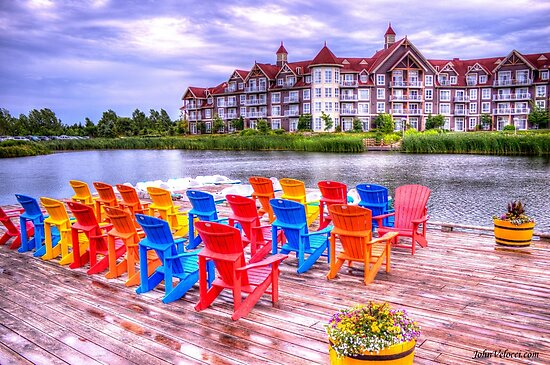 The dock at Blue Mountain by John Velocci