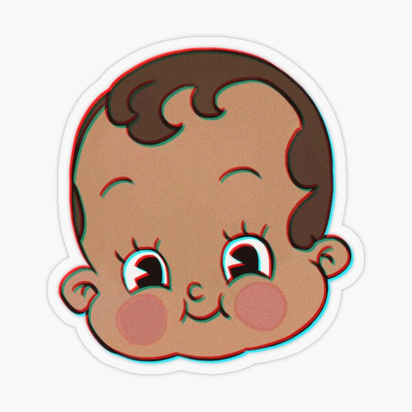 Baby Face Club Transparent Sticker
