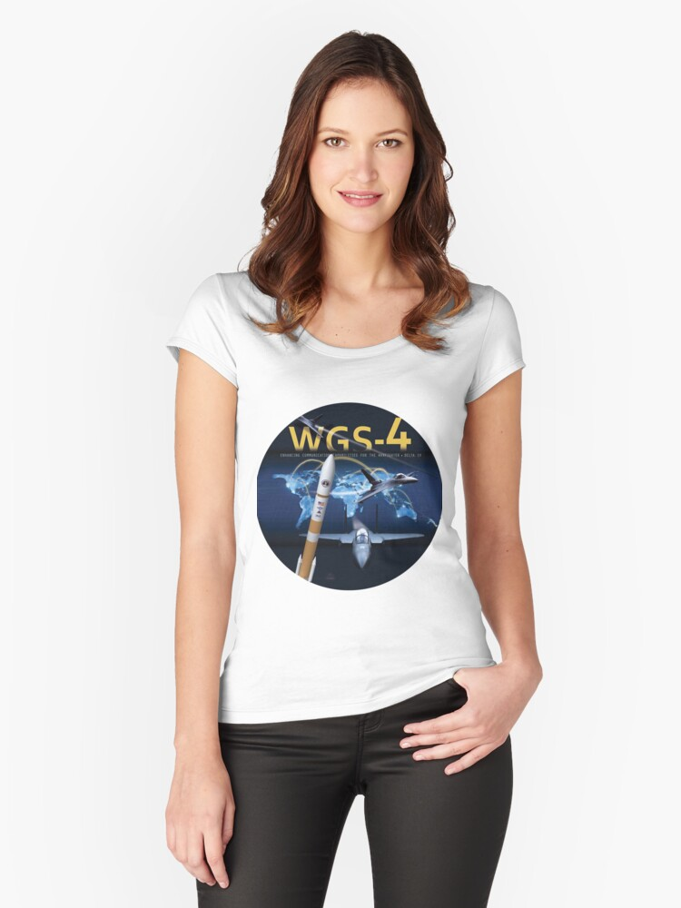 WGS-4 Launch Team Logo Women's Fitted Scoop T-Shirt Front