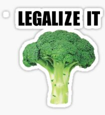 Legalize it (Legalize weed parody) Sticker