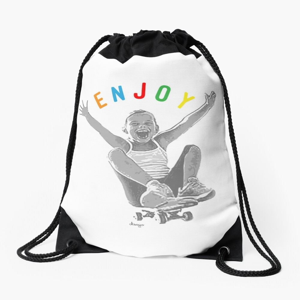 Enjoy design Drawstring Bag