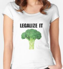 Legalize it (Legalize weed parody) Women's Fitted Scoop T-Shirt
