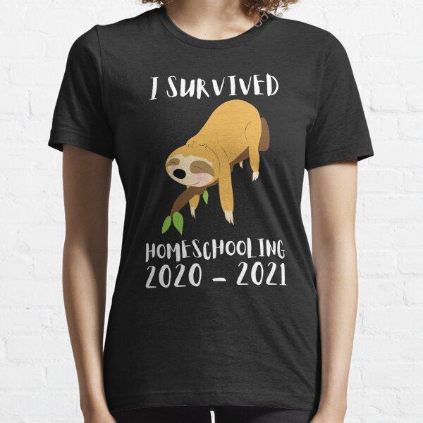 I survived Homeschooling 2020 2021 gift children Essential T-Shirt
