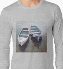 Sailing Boats, North Berwick Harbour, Scotland Long Sleeve T-Shirt
