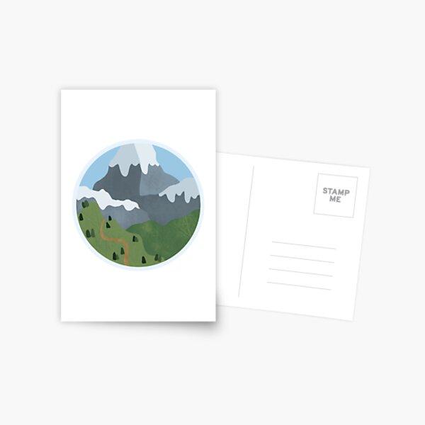 Snowy mountain scene Postcard