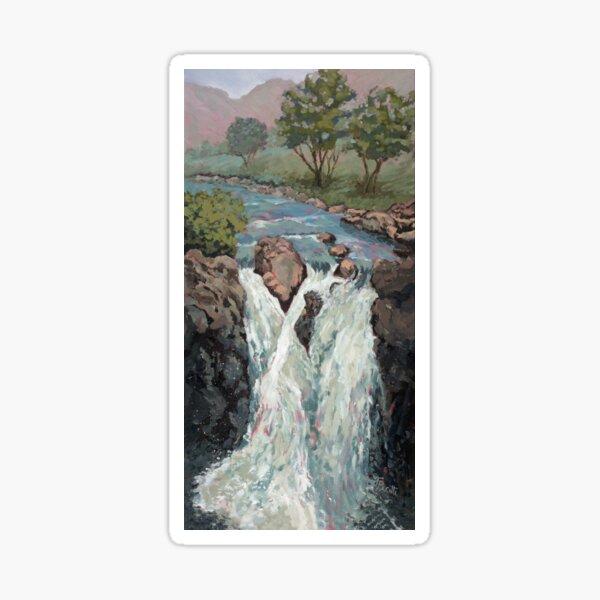 Waterfall in the Scottish Highlands near Glencoe by Tracey Pacitti Sticker