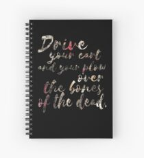Cuaderno de espiral Conduce tu carrito y tu arado sobre los huesos de los muertos.