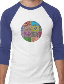 Patchwork, Vintage Style Men's Baseball ¾ T-Shirt