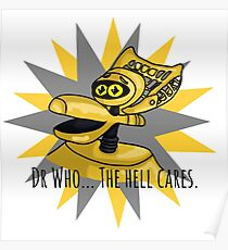 Dr Who The Hell Cares Poster