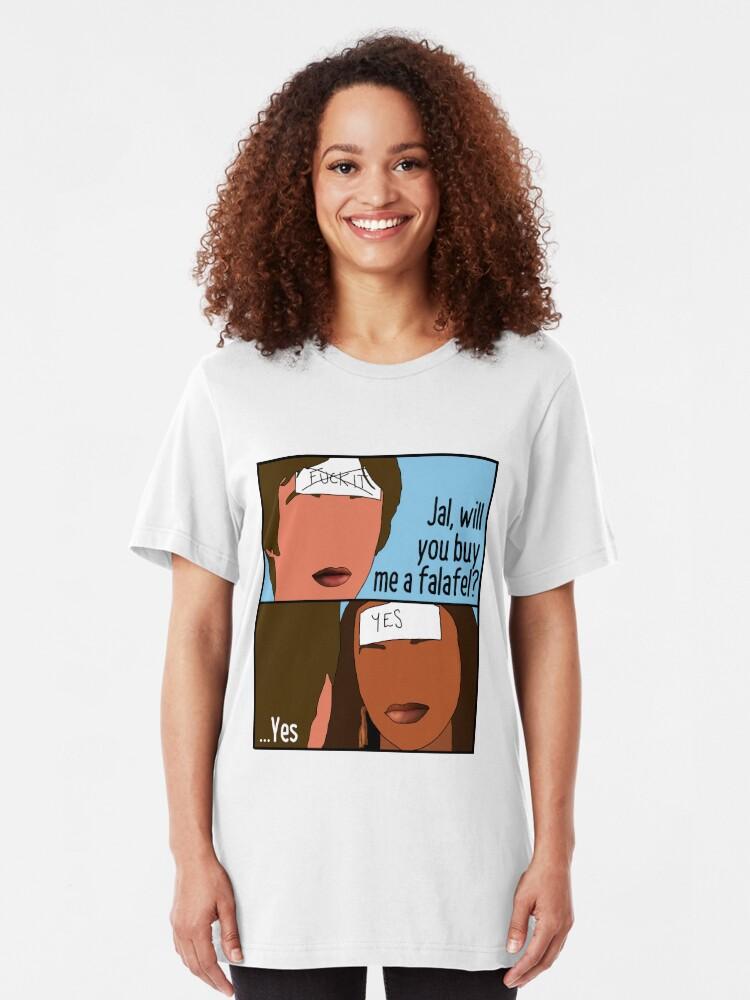 Alternative Ansicht von Häute - Jal & Chris Falafel Slim Fit T-Shirt