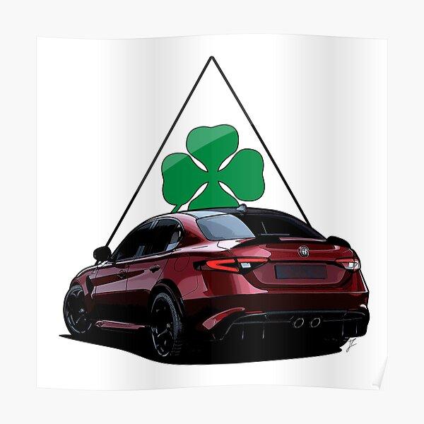 Alfa Romeo Giulia Quadrifoglio | Italienischer Sportwagen Poster