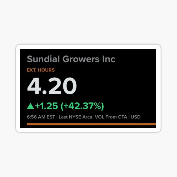 Sundial Growers Inc stock Sticker