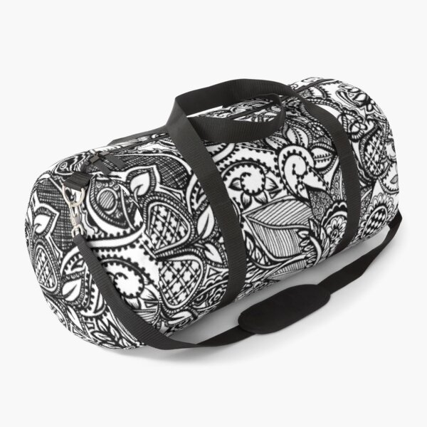 Nature is in perfect design | black and white doodle Duffle Bag