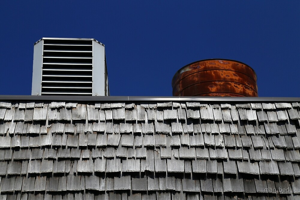 Strip Mall Roof Abstract by marybedy