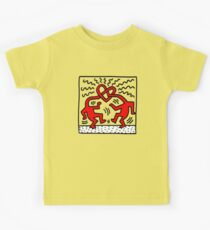keith, haring, keith haring, graffiti, trending, symbol, pop art, funny, logo, people, family, motif. Kids Clothes