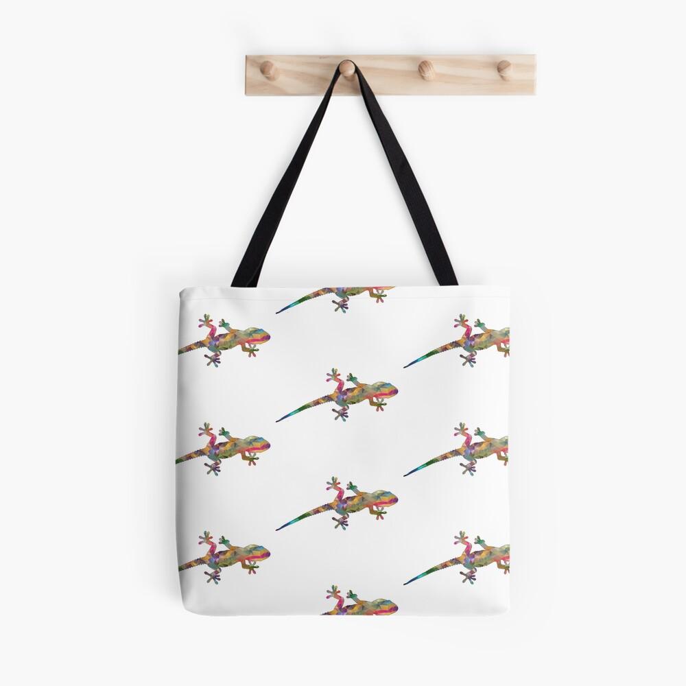 Colourful Gecko Print Tote Bag