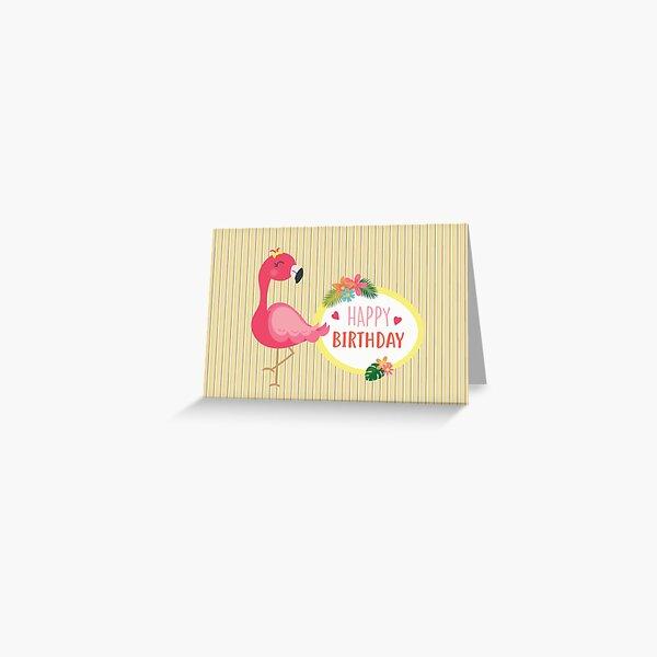 Flamingo birthday wishes Greeting Card
